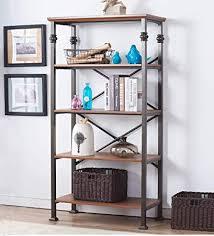 Office shelving unit Metal Image Unavailable Amazoncom Amazoncom Ok Furniture 5tier Vintage Industrial Bookcase