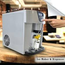 countertop ice maker machine newair clearice40 clear counter