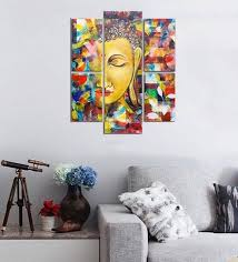 cotton canvas 35 5 x 31 4 inch buddha split canvas painting set of 5 by on spiritual wall art uk with buy cotton canvas 35 5 x 31 4 inch buddha split canvas painting