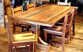 Dark Rustic Kitchen Tables