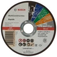 <b>Диск</b> отрезной 125x1x22.23 <b>BOSCH</b> Rapido Multi Construction ...