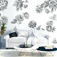 black and white wall decals white wall decals black and white wall decals black white flowers large flower decals for walls white wall decals black white