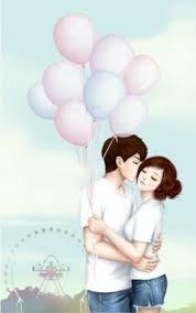 40 romantic couple cartoon love photos