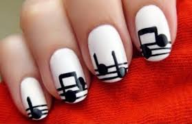 simple & Cute Black And White Nail Art Designs Ideas 2015
