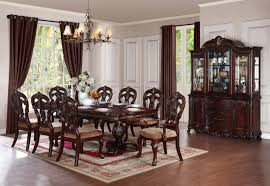 Formal Dining Room Sets For 8 Homelegance Deryn Park 8 Piece Oval Pedestal Dining Room Set In