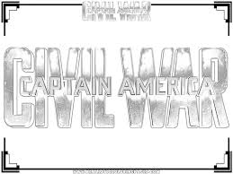 Captain Americacivil War Printable Coloring Pages Realistic