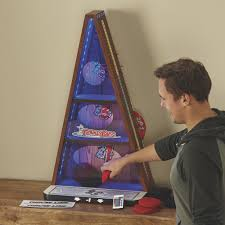 donkey bags bean bag toss game wood grain finish with led lights