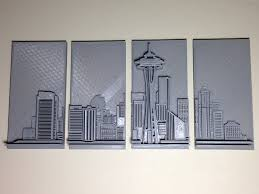 seattle skyline 3d printing industry on 3d printer wall art with 3d printed seattle skyline wall art 3d printing industry