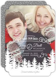 Christmas Wedding Save The Date Cards Holiday Save The Dates Holiday Wedding Save The Dates