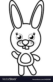 Cartoon Bunny Animal Outline Royalty Free Vector Image