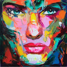 <b>Hand Painted Abstract</b> Knife Palette Picture Modern Pop Art Nielly ...