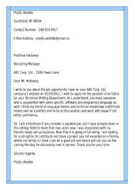 Resume Letter Examples Resume Letters Examples Cover Letter