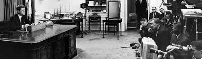 jfk oval office. JFK Addresses The Nation On Civil Rights. \ Jfk Oval Office N