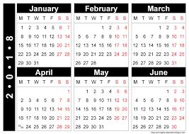 Blank Calendar 2018 Printable 2017 Calendar