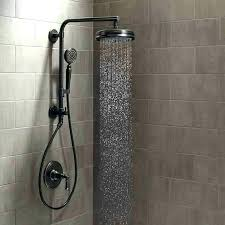 delta square rain shower head bronze handheld heads with powerful s valve