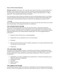 I Want To Write A Resume How To Write A Great Resume Best Good
