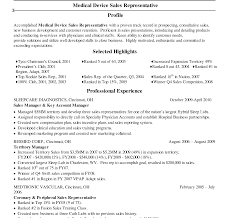 Resume Definition Business Medical Device Sales Resume Examples Best Outside Objective Area 52