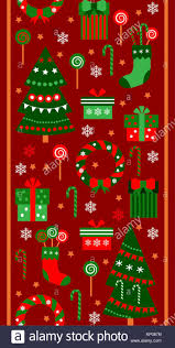 Merry Christmas And Happy New Year Vertical Border Ribbon Gifts