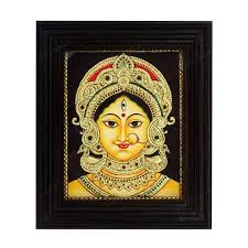 devi durga bengal style tanjore painting material used cotton canvas material of the