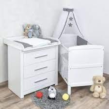 Weitere ideen zu kinder zimmer, kinderzimmer, zimmer. Babyzimmer Babybett Wickelkommode Weiss Bettwasche Sterne Grau Komplettzimmer Ebay