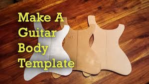 How To Make Guitar Templates | Project Electric Guitar