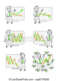 Stock Chart Art Graphics In Vector Human Emotions