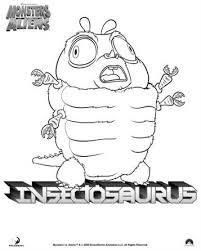 Kids N Funcom 21 Coloring Pages Of Monsters Vs Aliens