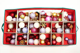 Storage For Christmas Decorations 36 Compartment Christmas Bauble Ornament Decorations Storage Box Or