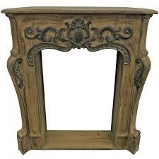 corner fireplace mantel brown
