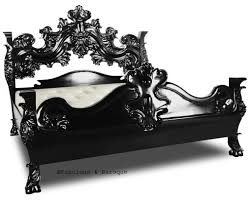 Ornate Bedroom Furniture King Arthur Bed Black Baroque French Bed And French