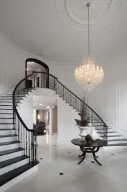 methods to boost your cur interear design crystal chandelier black wooden table stairway