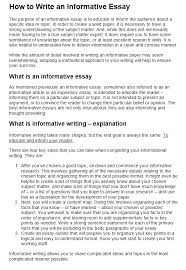 How To Write An Informative Essay Writers Guide At Kingessays