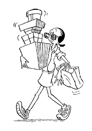Small Picture Olive Oyl with boxes coloring page from Popeye The Sailor coloring