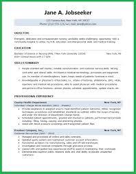 Nurse Cv Template Cool Nursing Graduate Resume Template Forteeuforicco