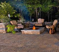 Stacked Stone Fire Pit garden rustic backyard patio inspiration e with low stacked 5200 by uwakikaiketsu.us