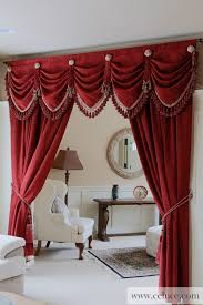 Red Swag Kitchen Curtains Red Chenille Austrian Diamond Swag Valance Curtain Drapes Http