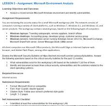 Lesson 3 Assignment Microsoft Environment Analys