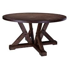 Shop Broyhill Pieceworks Round Dining Table Brown Free Shipping