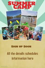 Summer Beach Spring Break Camp Vacation Poster Flyer Template ...