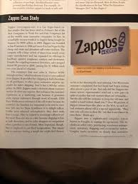 Zappos Case Study Answers   Solution  Analysis   Case Study Help Chegg