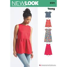 Tunic Sewing Pattern Beauteous Womens Tops With Length And Sleeve Variations New Look Sewing