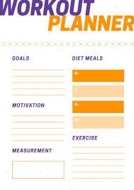2019 Workout Planner Fitness Organizer Calendar 2019 Printable
