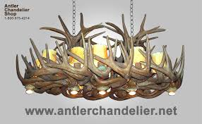reion whitetail chandelier with optional downlights crl 28