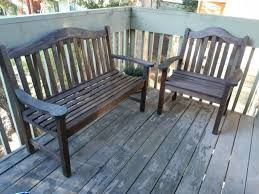 recycled plastic outdoor bench and