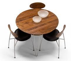 modern danish walnut round dining table