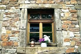 stone window frame ark wooden