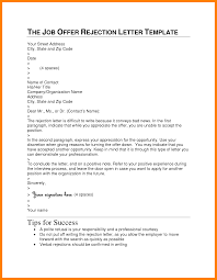 Example Of Rejection Letter 13 Isipingo Secondary