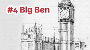 Architectural drawings of famous buildings Sketch Youtube Big Ben Perspective Drawing 4 Famous Architecture Youtube