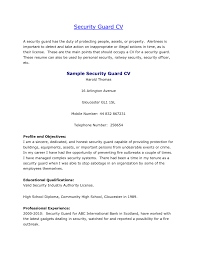 Bank Security Officer Sample Resume Template For A Good Resume