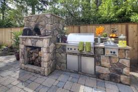 outdoor kitchen design ideas fireplace pizza oven grill and how to build an combo